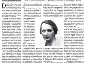 María Zambrano y la poesía.