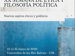 XX semana de ética y filosofía política