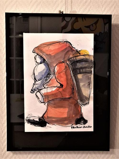 Aquarelle Père Noël  #2  Laurent BOSIO