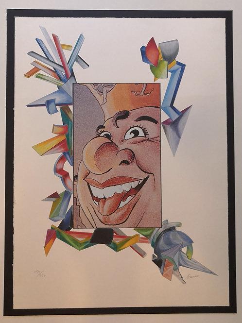 Lithographie Jean Claude Farhi Carnaval de Nice 1990