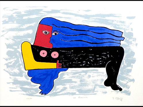 """""""femme cheveux bleus"""" by  COVILLE"""