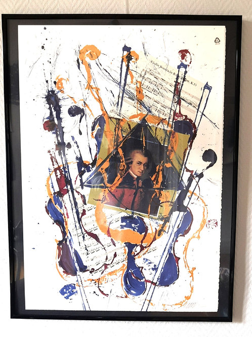 "Lithographie ARMAN ""Mozart"""