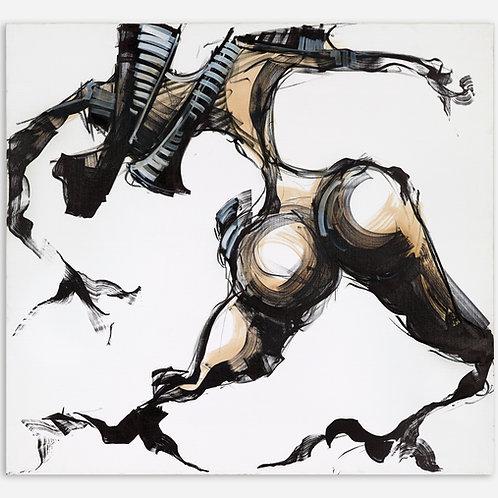 Peinture Racine Humaine sur fond Blanc de Laurent Bosio