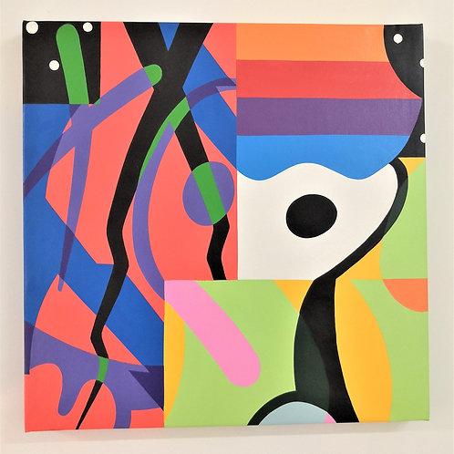 Toile abstraite #1 by Barnabé