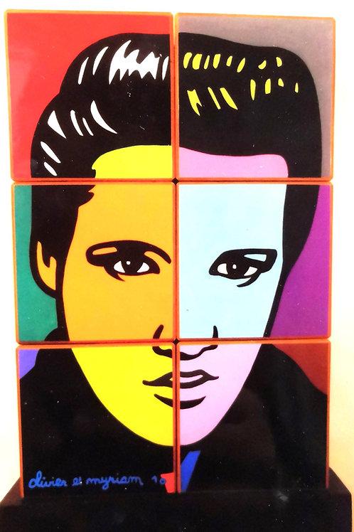 Cubes Elvis par Moustache Bleue