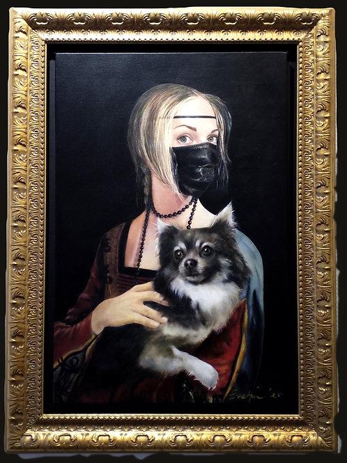 La dame au petit chien by Sveta Marlier