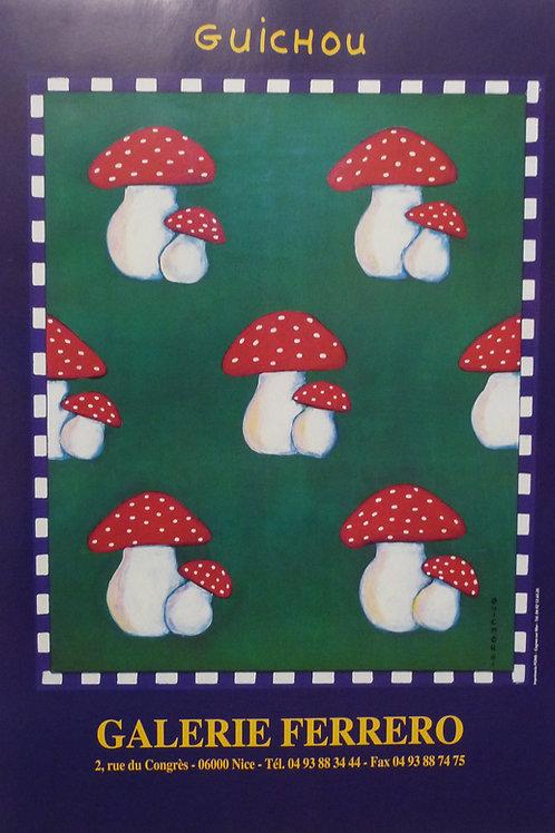 "Affiche ""Champignons"" by Jo Guichou"