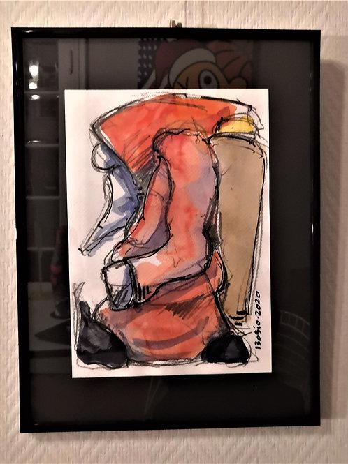 Aquarelle Père Noël #1 Laurent BOSIO