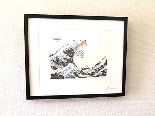 La vague de hokusai par Kristian