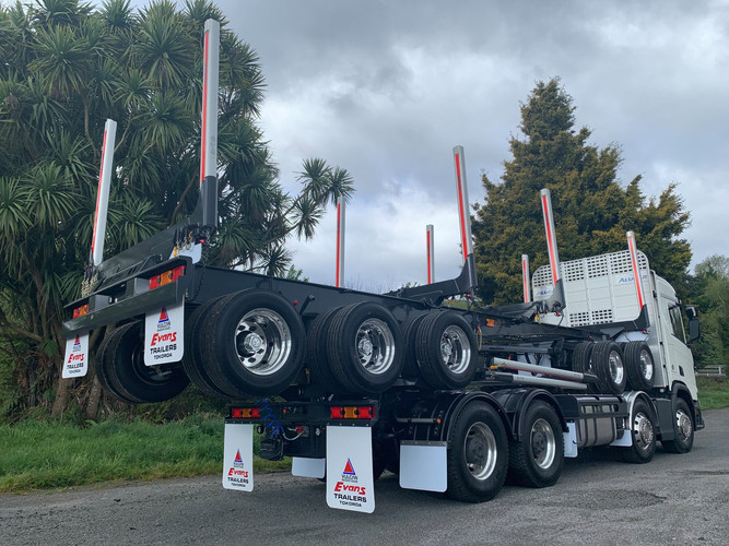 Scania & 5 axle trailer for Scania NZ