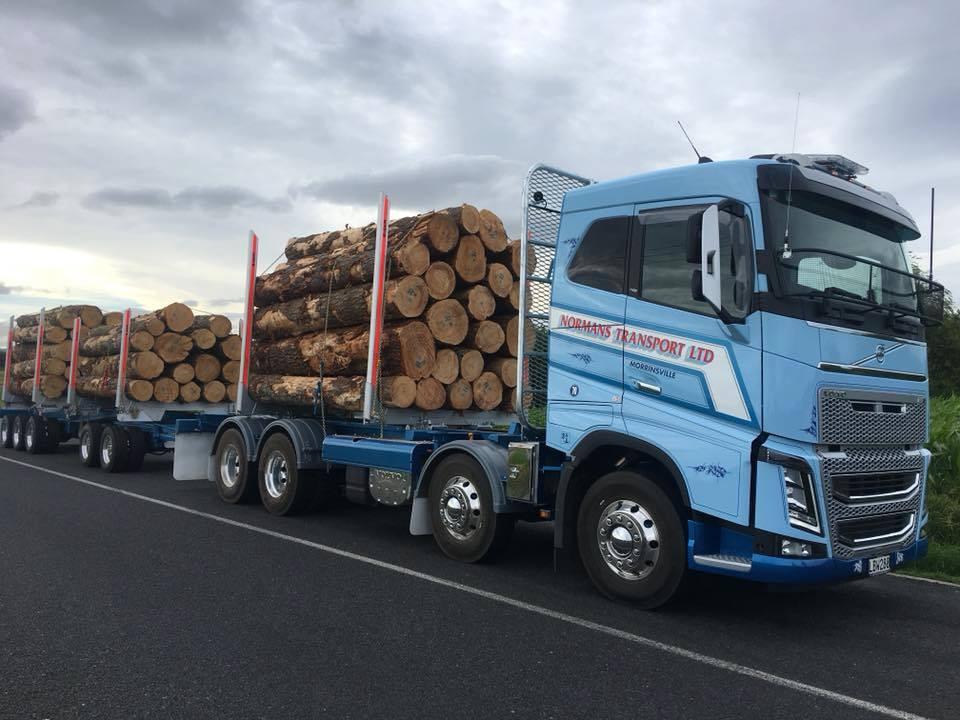 Multi purpose Volvo & 5 axle trailer for Normans Transport