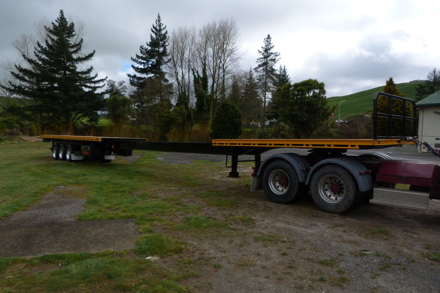 Enterprize Steel 3 axle trombone semi trailer