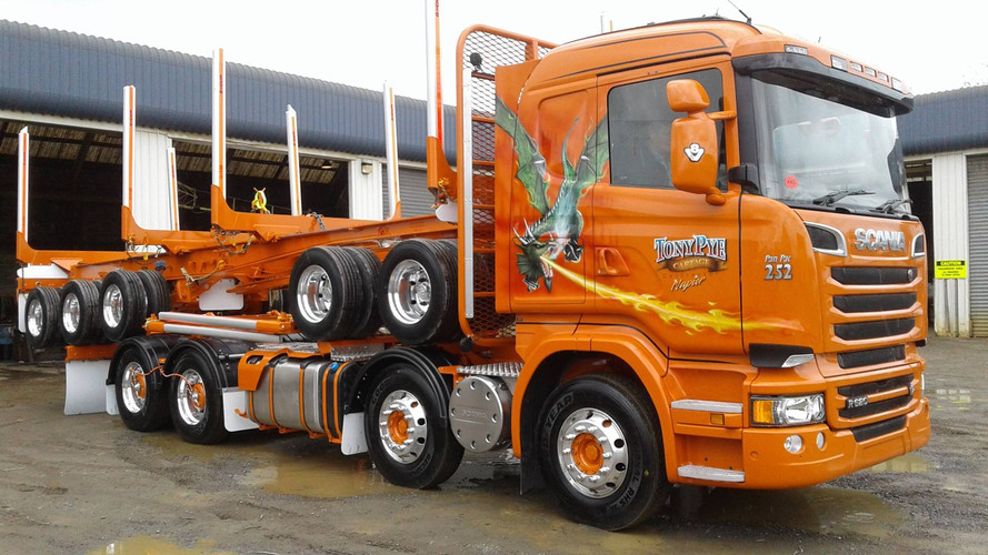 Tony Pye Scania & 5 axle trailer
