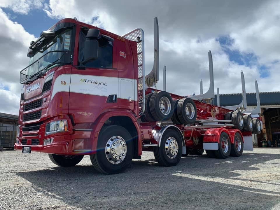Scania & 5 axle trailer for E-freight