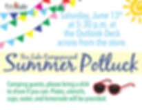 June Potluck Flyer - Fox Lake Campground