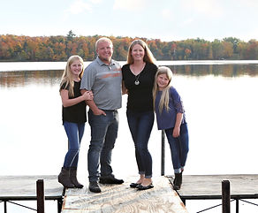 Fox Lake Campground hosts - the Haugen family