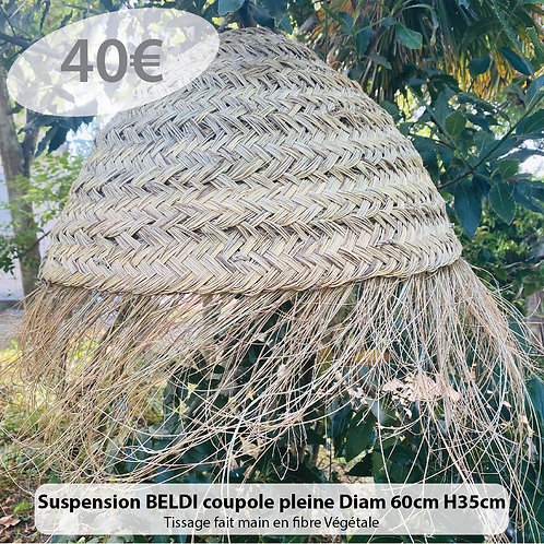 Suspension Beldi coupole pleine