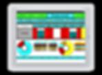 Tableau de bord de Production KPI sur Tablette