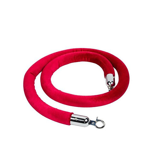 6' Velour Stanchion Rope (Red)