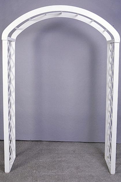 White Lattice Garden Arch