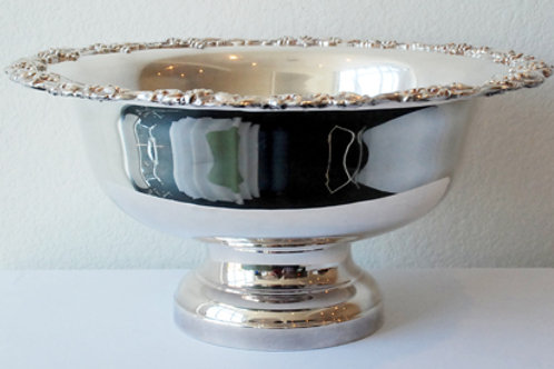 3 Gal Silver Punch Bowl