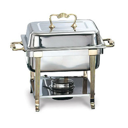 4 qt Brass trim chafing dish