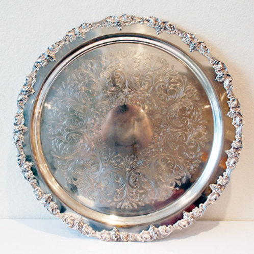 """19"""" Silver Serving Tray"""