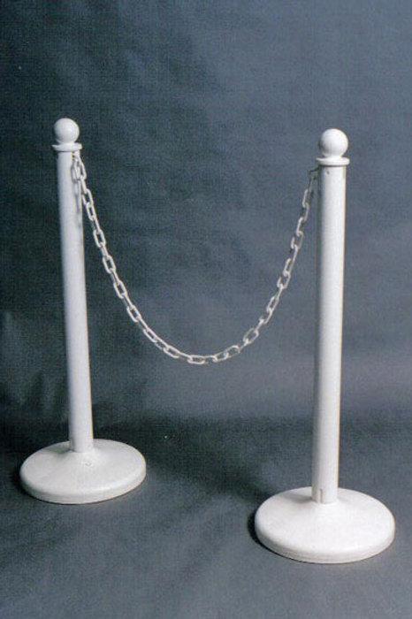 White Plastic Stanchion Pole