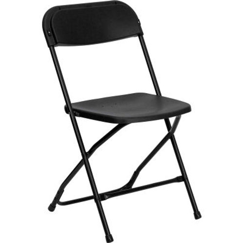 Black Plastic Folding Chair indoor/outdoor