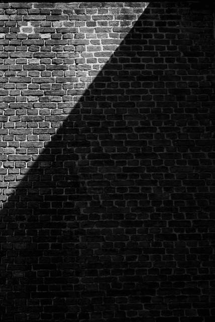Shadow brick wall