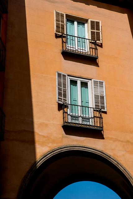 Colorfull sunny windows