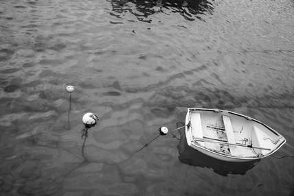Floating little boat