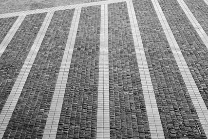 Brick pattern on the floor