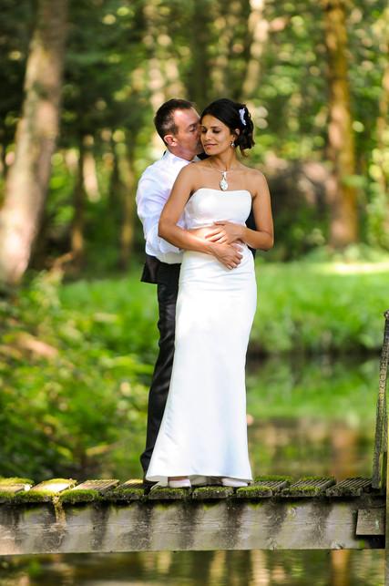 Bruidspaar in de natuur