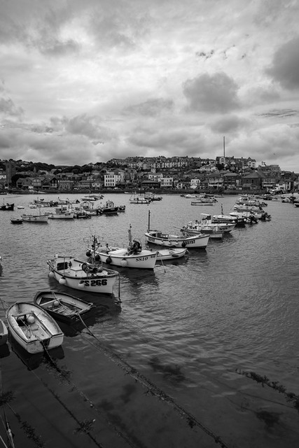 Boats in a row - Cornwall