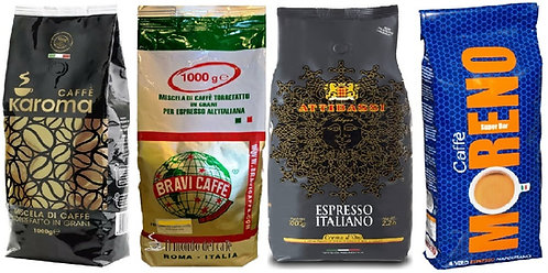 SAVE 15% on 4 x 1Kg mixed Italian espresso beans