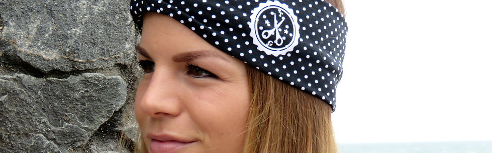 TSH Hairband Black & White with Knot