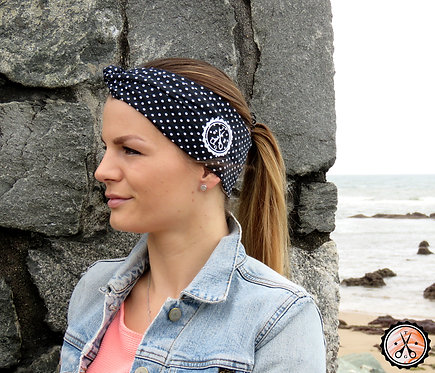 TSH Hairband Black & White Turban