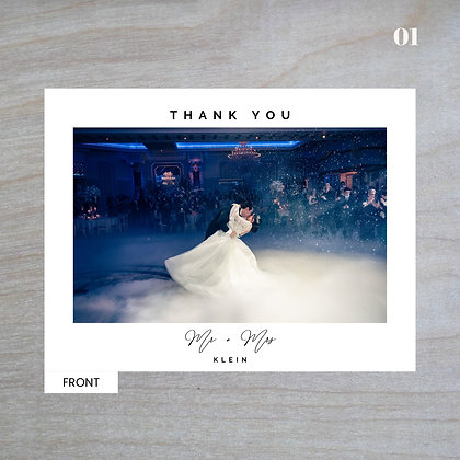 """Poised"" Horizontal Standard Thank You Cards"