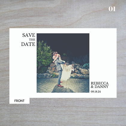 Horizontal - Standard Save-The-Date Post Cards