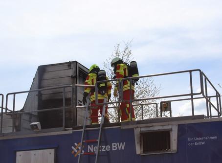 Gasbefeuerter Brandcontainer
