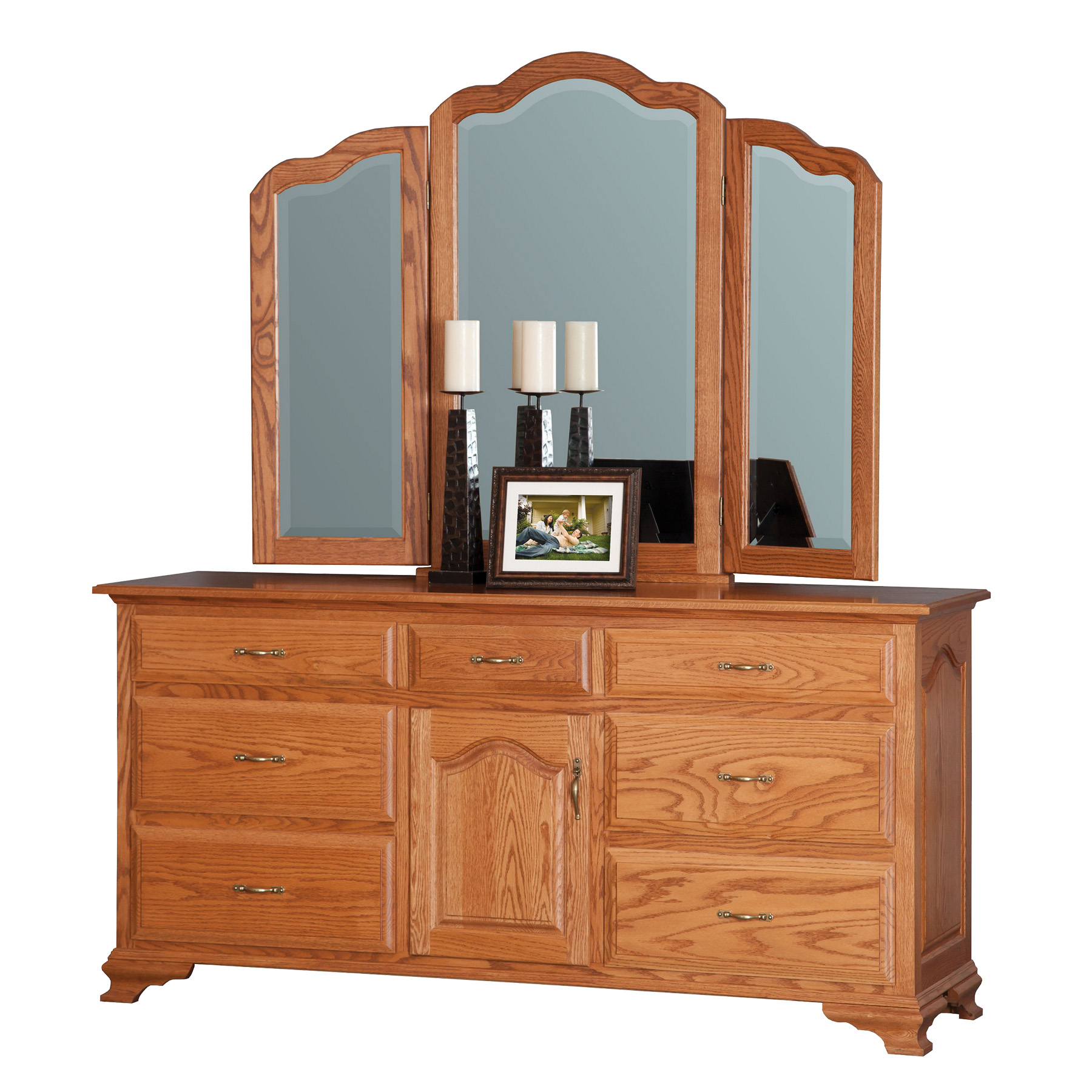 "72"" Dresser with Tri-View Mirror"