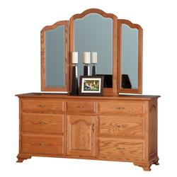 """72"""" Dresser with Tri-View Mirror"""