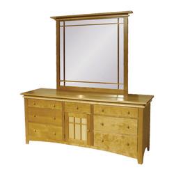 Maple Creek Triple Dresser and Mirror