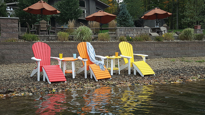 Adirondack Chairs with Footstools