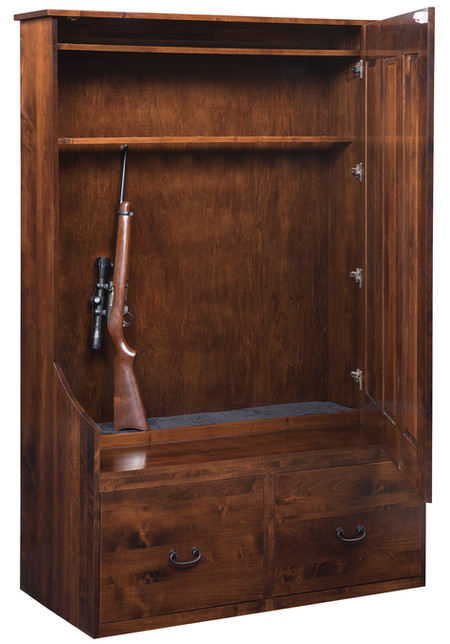 Hall Seat Gun Cabinet