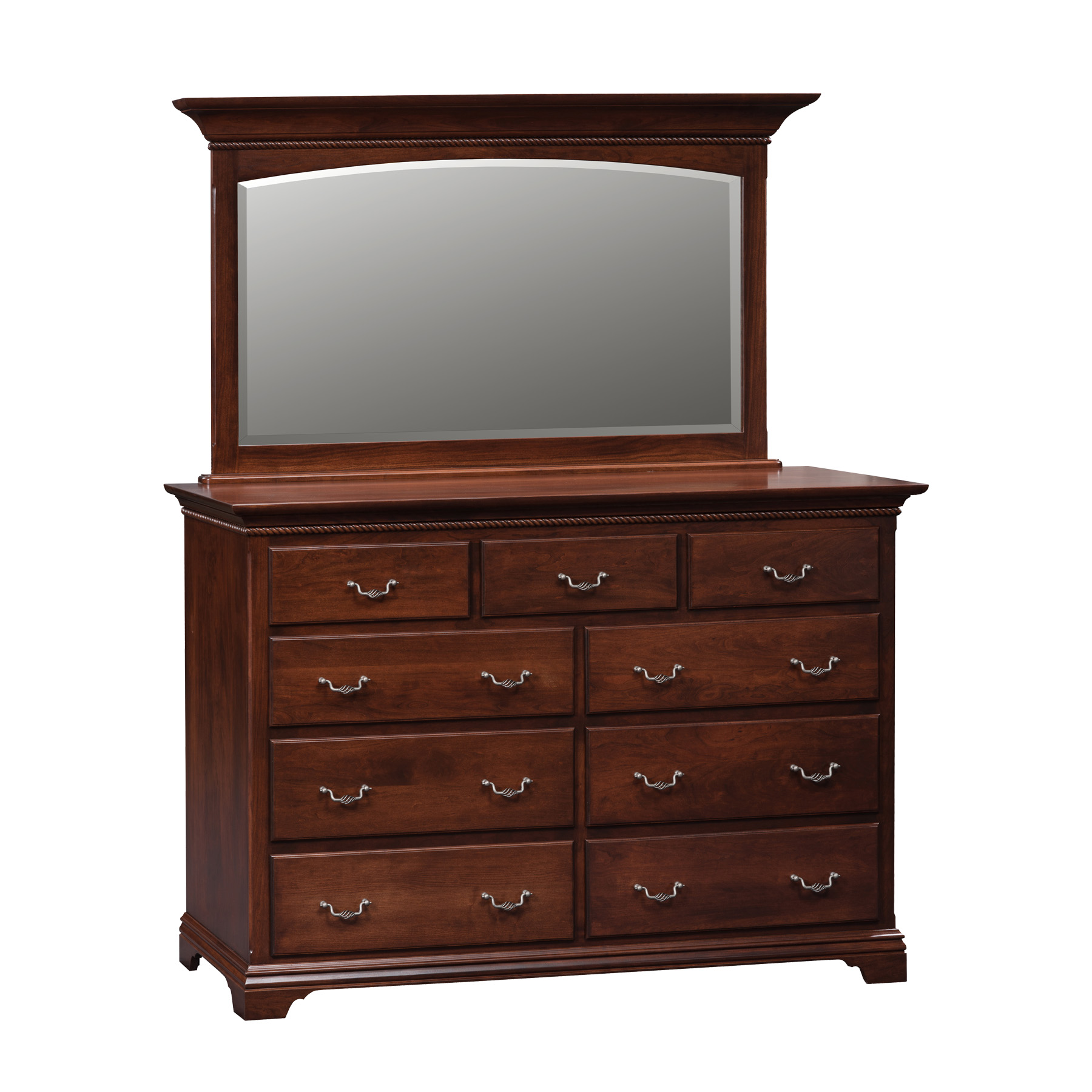 Hampton Double Mule Dresser and Mirror