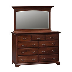 Hampton Double Mule Dresser and Mirror