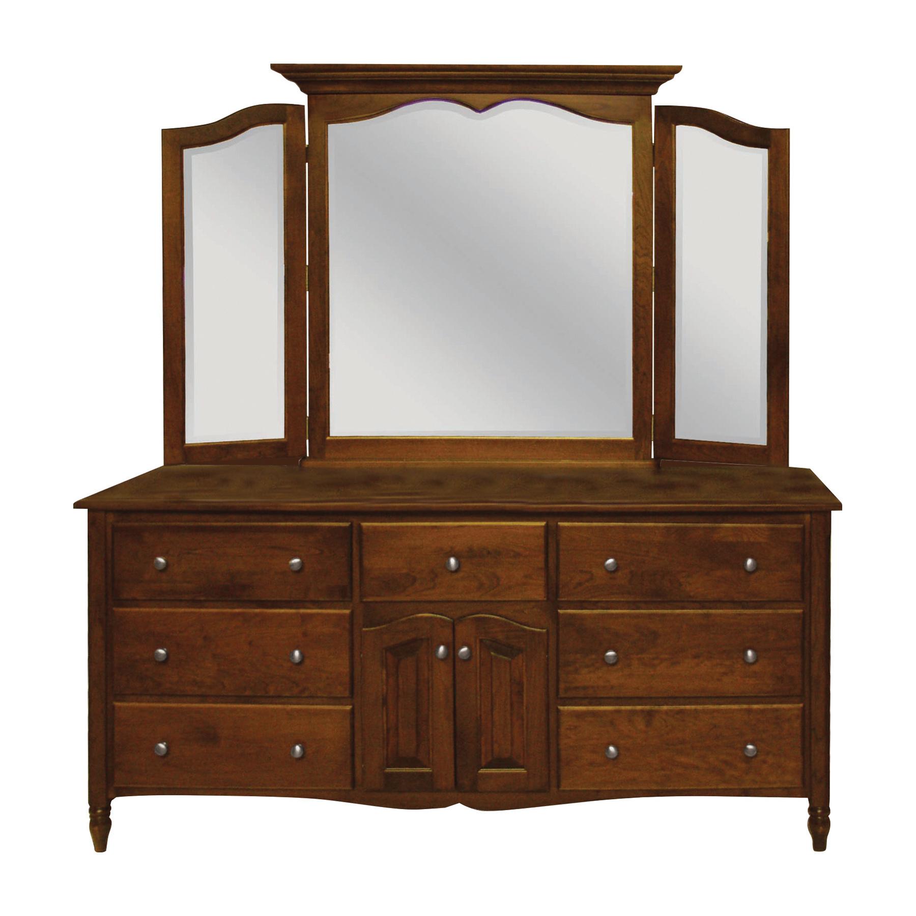 Delafield Triple Dresser and Tri-View Mi