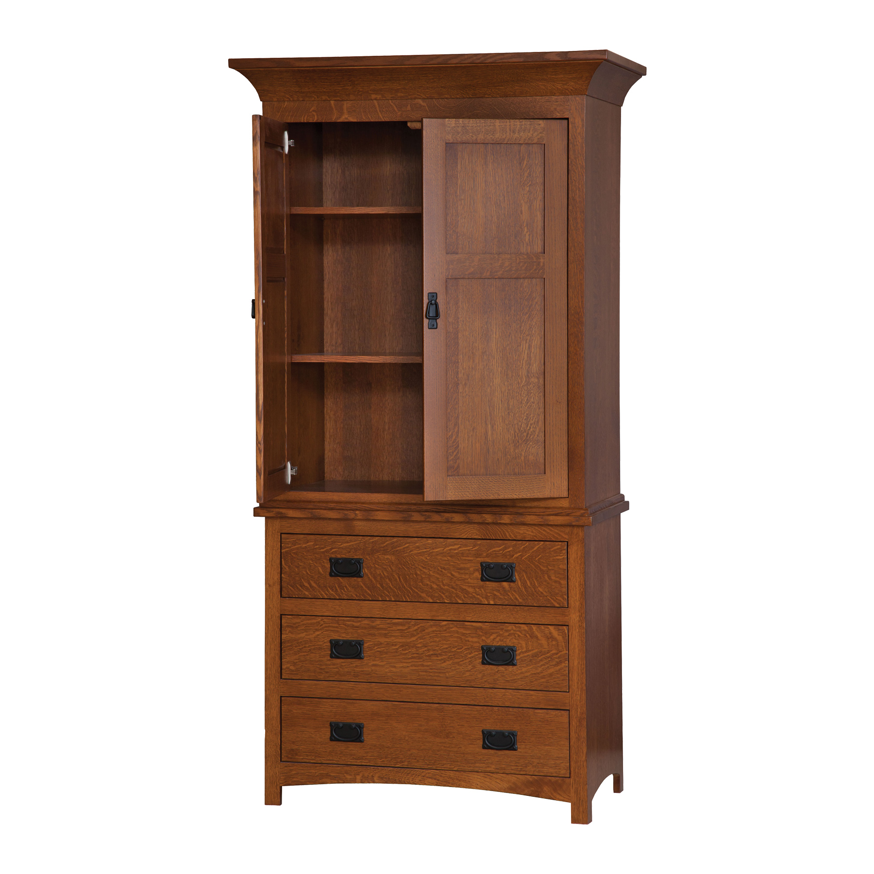 3 Drawer Armoire: Open